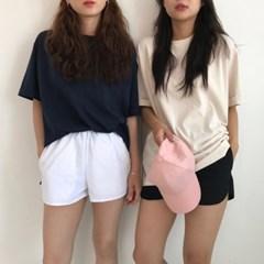 카브라 무지 라운드 티셔츠