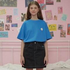 Flower point tshirt-blue_(1183535)