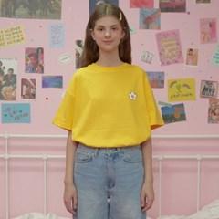 Flower point tshirt-yellow_(1183533)