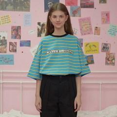 Wave logo stripe tshirt-blue_(1183524)