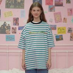 Wave logo stripe tshirt-pink_(1183523)