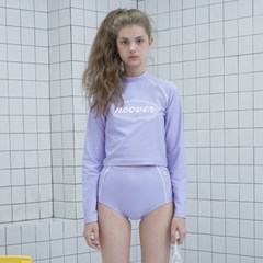 Original crop rash guard set-purple_(1183497)