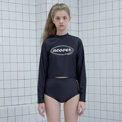 Original crop rash guard set-black_(1183499)