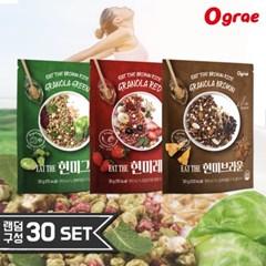 [무료배송] 오그래 잇더현미 3종 맛있는 저칼로리 시리얼 30봉 SET