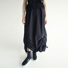 light texture shirring long skirts (2colors)_(1282732)