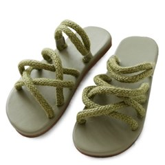 kami et muse Soft rope strap slippers_KM19s253