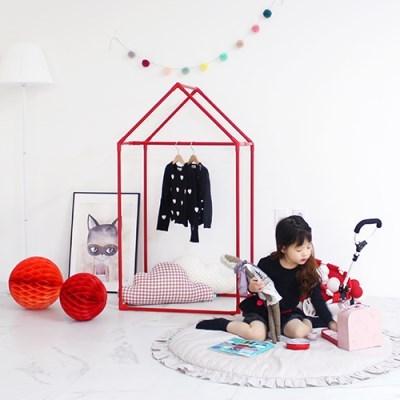 [쁘띠메종] 하우스 키즈옷장 레드 2size