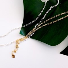 (92.5 silver) day chain necklace