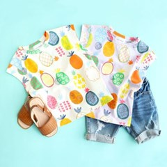 파인애플 아동 민소매 티셔츠 IB2CV627U