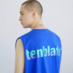 로고 프리즘 나시티셔츠-블루