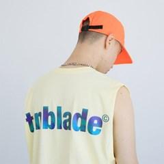 로고 프리즘 나시티셔츠-옐로우