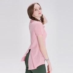 모달 백슬릿 티셔츠 DFW5026 핑크