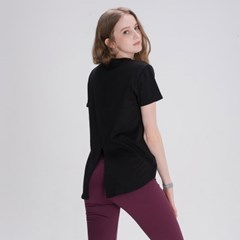 모달 백슬릿 티셔츠 DFW5026 블랙