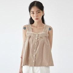 petit check sleeveless blouse_(1283450)