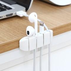 USB 스마트폰 전선정리 간편부착 4단 케이블 클립홀더_(1037104)