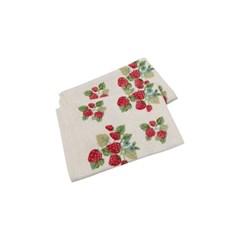 딸기 뜨개 테이블 매트