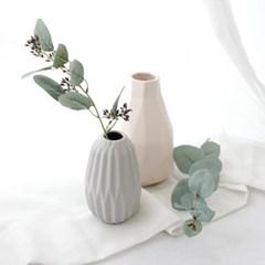 북유럽 유칼립투스 꽃병 조화세트