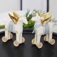 바퀴 사슴 천사 2P
