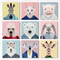 캔버스 일러스트 그림 아트 천 액자 동물 친구 시리즈
