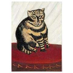 패브릭 포스터 고양이 그림 일러스트 액자 앙리 루소 3
