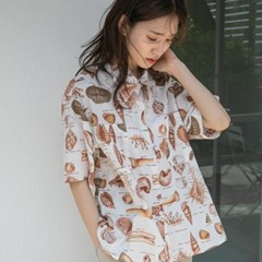 [치즈달] 소라 패턴 셔츠