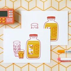 잼 포스트 카드 - 오렌지쥬스