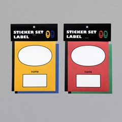 STICKER SET - LABEL (YB/RG)