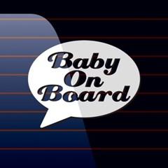 캐찹 자동차스티커 말풍선 Baby on Board_02