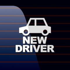 캐찹 자동차스티커 아이콘 New Driver_07
