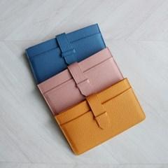 소가죽 카드슬롯 슬림 장지갑 (3color)