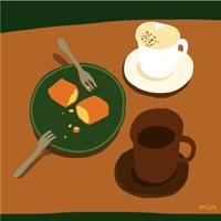 [라이크민] 카페 일러스트 엽서, 미니 포스터 @시간의공기