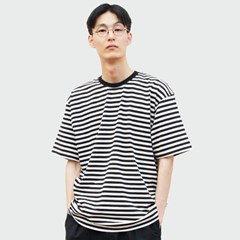 One Stripe T-shirt_Black/Ivory
