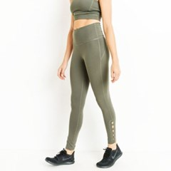 [monob]Highwaist Row of Rhombus Full Leggings (APH2179)