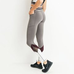 [monob]Highwaist Colorblock Pocket Leggings (APH2102)