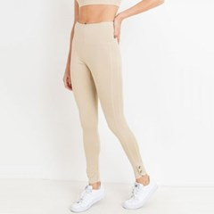 [monob]Highwaist Double Button Full Leggings (APH6148)