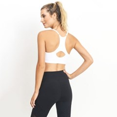 [monob]Seamless Cut-Out Racerback Athleisure Bra (AT1905)