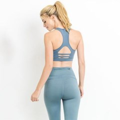[monob]Mesh Detail and Cutout Back Sports Bra (AT1921)