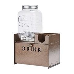 카페 크리스탈 음료 디스펜서 7.8리터 수납선반 세트_(1033833)