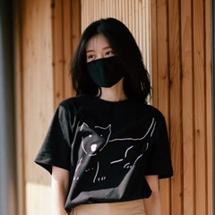 [Organic cotton] The Dog (black)
