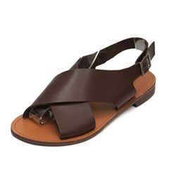 kami et muse Wide cross strap flat sandals_KM19s265