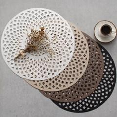 로뎀 원형 테이블(식탁) 개인매트 - 4color_(2736756)