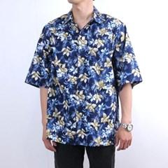 하와이안 셔츠 남방 네이비 R3-011