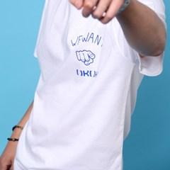 프린트 반팔 티셔츠  R4-041 유 화이트