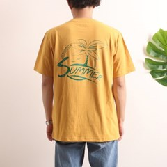 프린트 반팔 티셔츠  R4-022 썸머 애쉬옐로우