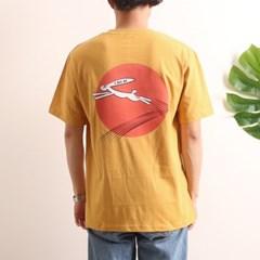프린트 반팔 티셔츠  R4-016 토끼 애쉬옐로우