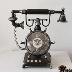 전화기 빈티지 시계-2type_(2736891)