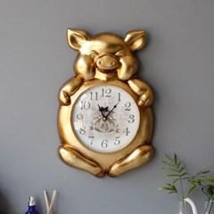 복 돼지 벽시계 - 2color_(2736879)