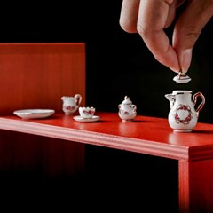 [Deco Miniature] TEA SET ROSEBAND_(668425)