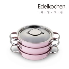 [에델코첸] 실용만점 착착수납 컬러냄비3종세트