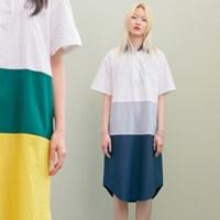 [블랭크] SHIRT LONG DRESS-NV